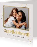 Verjaardagskaart persoonlijk goud confetti gefeliciteerd