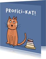 Verjaardagskaart profici-kat!