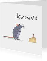 Verjaardagskaart Ratata!