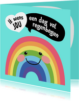 Verjaardagskaart - Regenboog - SK