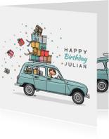 Verjaardagskaart Renault 4