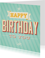 Verjaardagskaart Retro