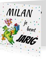 Verjaardagskaart Rocco met cadeau-RN