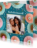 Verjaardagskaart rozetten met foto