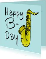 Verjaardagskaarten - Verjaardagskaart Saxofoon PA