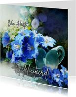 Verjaardagskaart Scrapbook Delphinium
