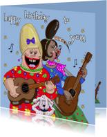 Verjaardagskaart Serenade gitaar