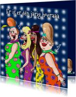 Verjaardagskaart Showbizzgirls
