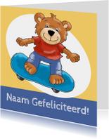 Verjaardagskaarten - Verjaardagskaart skateboard beer