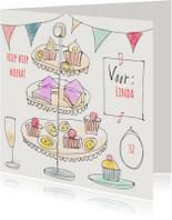 Verjaardagskaarten - Verjaardagskaart -  Sweet