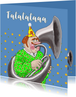 Verjaardagskaart Tuba