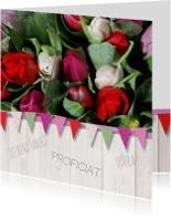 Verjaardagskaart tulpen vlag av
