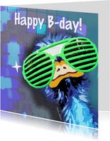 Verjaardagskaarten - Verjaardagskaart vette party