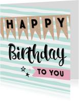 Verjaardagskaart Vlagjes 99