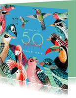 Verjaardagskaart vogel soorten