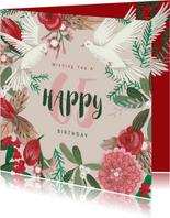 Verjaardagskaart voor de feestdagen