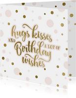 Verjaardagskaart voor een vrouw met confetti