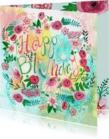 Verjaardagskaart bloemen bijzonder