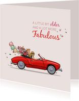 Verjaardagskaart VW Karmann Gia cabrio