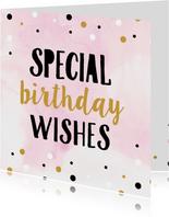 Verjaardagskaart waterverf confetti