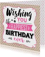 Verjaardagskaart Wishing You