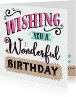 Verjaardagskaart Wonderful