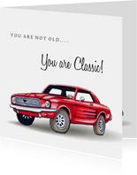 Verjaardagskaarten Classic Mustang 2
