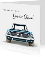 Verjaardagskaarten Classic Mustang