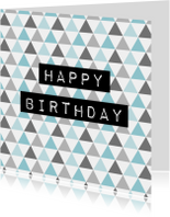 Verjaardagskaartje Driehoek - WW