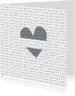 Liefde kaarten - Verliefdkaart I Love You kaart