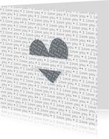 Verliefdkaart I Love You kaart