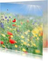 Vertel het met zomerbloemen