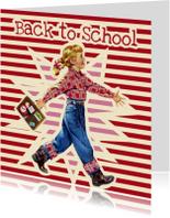 Vintage Back to school meisje
