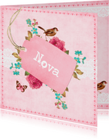 Vintage Geboortekaartje Nova