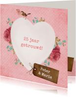 Jubileumkaarten - Vintage Hart Huwelijksjubileum
