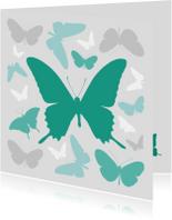 Vlinders grijs en groen