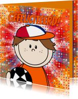 Voetbal jongen ORANJE disco