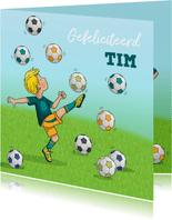 Voetbal kaart Anet Illustraties