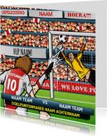 Voetbal Kaart in Amsterdamse kleuren