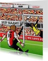 Voetbal Kaart in Rotterdamse kleuren