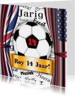voetbal stoer vlaggen zelf invullen
