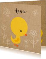 Vogeltje geel meisje