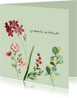 Voor mama - bloemen - moederdag kaart