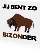 Vriendschap Jij bent bijzonder met een bizon erbij