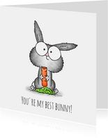 vriendschap kaart konijntje - You're my best bunny