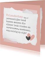 Vriendschap kaart: woordenboek style