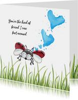Vriendschap kaarten lieveheersbeestje laat scheten