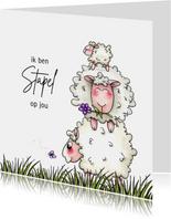 vriendschap kaarten stapel schapen