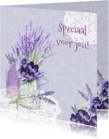 Vriendschap lavendel in glas