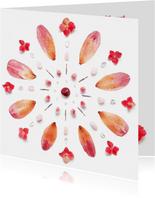 Vriendschapskaart mandala met hortensia
